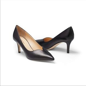 M. Gemi Rivista Sweetheart Black Leather Heels